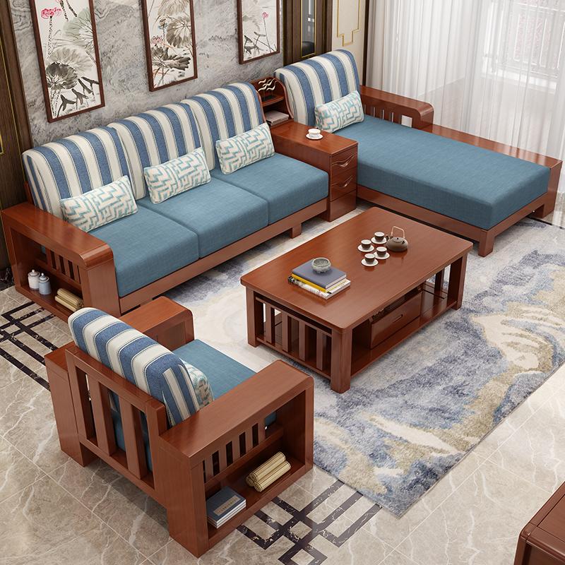 Làm đệm ghế gỗ tạo điểm nhấn ấn tượng cho không gian phòng khách