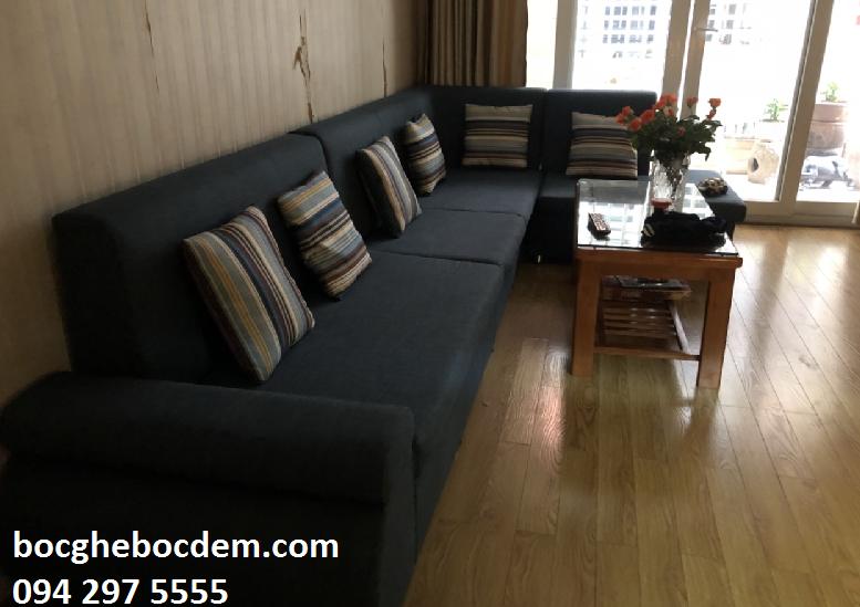 Làm đệm ghế sofa salon nhà anh Trung quận Ba Đình