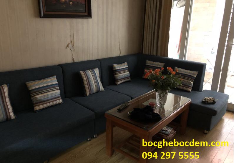 Làm đệm ghế sofa salon nhà chị Thủy quận Tây Hồ