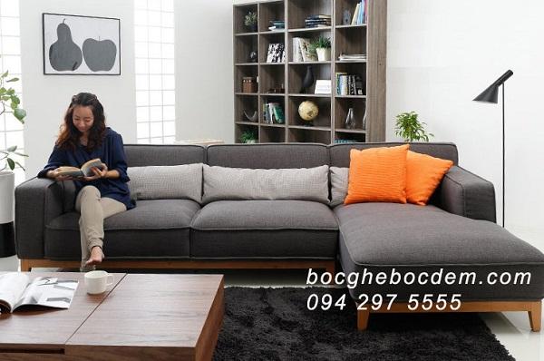 Mẫu Sofa Nỉ Đẹp Và Cao Cấp Mới Nhất Được Nhập Khẩu Từ Hàn Quốc - M117