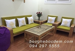 May vỏ đệm ghế, làm đệm ghế gỗ đẹp tại Hà Nội