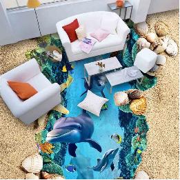 Nâng tầm ghế sofa với xu hướng sàn 3D sống động