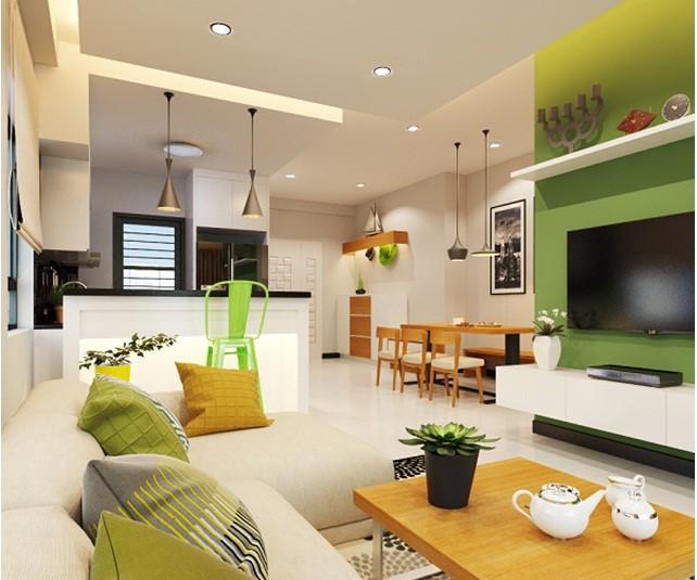 Những lưu ý khi thiết kế phòng khách liên thông phòng bếp