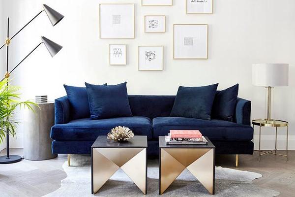 Những mẫu ghế sofa màu giúp làm mới phòng khách nhà bạn
