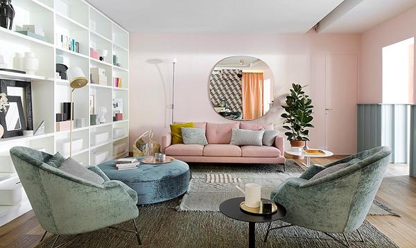 Phòng khách hiện đại phong cách giữa thế kỷ