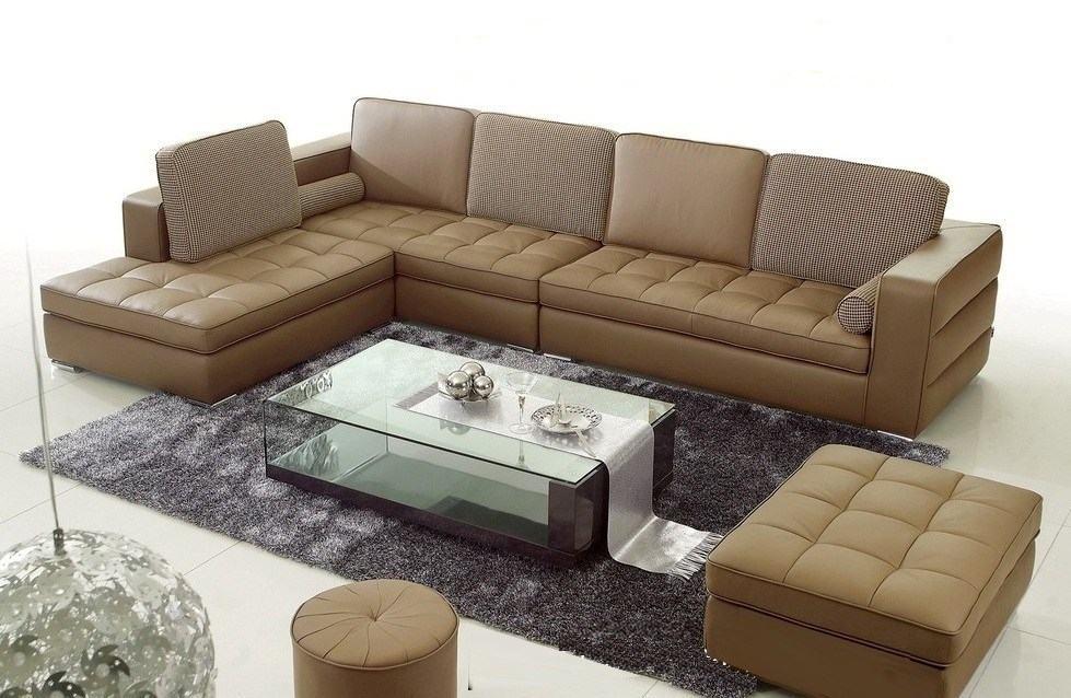 Sofa da phong cách cho phòng khách sang trọng