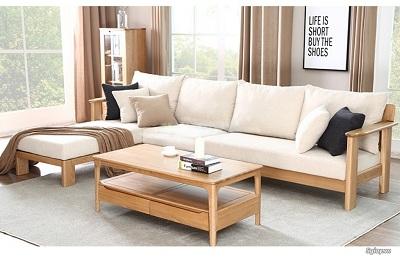 Sofa đệm ghế gỗ gắn kết yêu thương gia đình