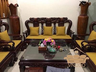 Sofa gỗ phòng khách và cái nhìn thời thượng