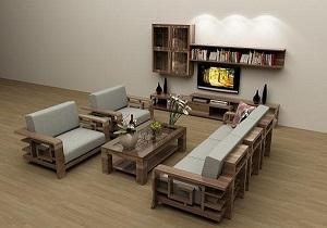 Sofa gỗ thanh lịch luôn là sự chọn lựa đúng đắn với mỗi gia đình