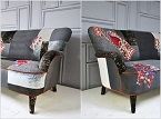 Thay áo mới cho ghế sofa vừa sáng tạo vừa rẻ vừa đẹp