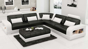 Tone màu chủ lực sofa trắng -  đen và luôn là sự lựa chọn hàng đầu