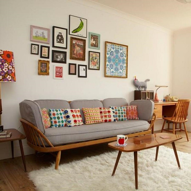 Trang trí phòng khách với phong cách Vintage