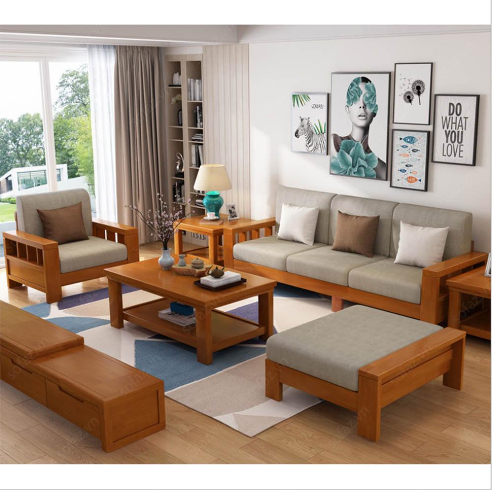 Xu hướng bàn ghế gỗ phòng khách đẹp tự nhiên